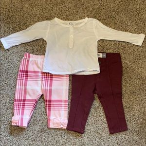6 month mix n match baby outfit